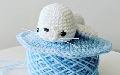 Harp Seal Pup Amigurumi Crochet Pattern