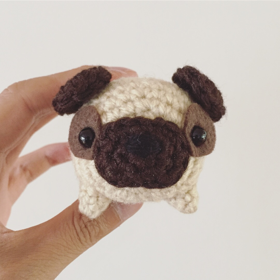 """Loaf"" Pug Dog Amigurumi Crochet Pattern"
