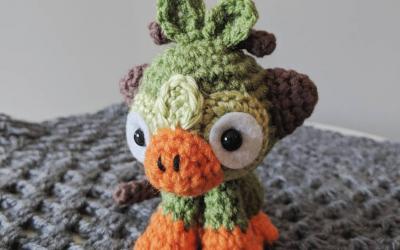 Grookey Amigurumi Crochet Pattern